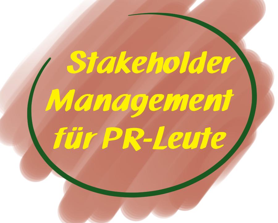 Hier geht es zum Kurs Stakeholder Management PR
